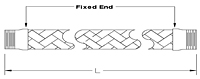 Stainless Steel Braided Flexible Hose (2-1/2 in. & 3 in.)