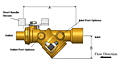 Model 2516 Mesurflo® Y-Ball Automatic Balancing Valve (DN15 - 1/2 in., DN20 - 3/4 in. & DN25 - 1 in.)
